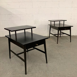 Paul McCobb Planner Group Ebonized End Tables