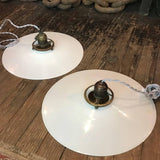 Milk Glass Disc Pendant Lights