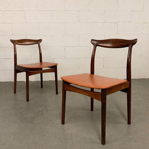 Eric Wørts Model 112 Rosewood Cow Horn Chairs