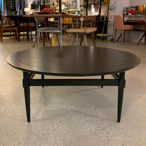 Ebonized Mahogany Round Midcentury Coffee Table