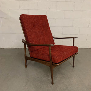Danish Modern Maple Lounge Chair