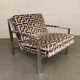 Cy Mann Chrome Lounge Chair