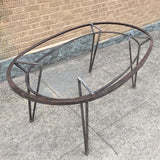 Steel Oval Dining Table