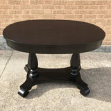 Ebonized Mahogany Center Table