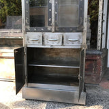 Brushed Steel Medical Apothecary Cabinet
