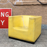 Institutional Molded Rubber Cube Chair