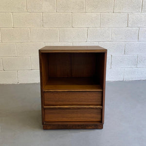 T.H. Robsjohn Gibbings For Widdicomb Walnut End Table Nightstand