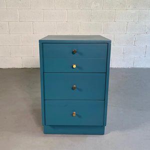 Mid-Century Modern Lacquered Blue Dresser Nightstand