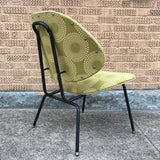 Mid-Century Modern Upholstered Lounge Slipper Chair
