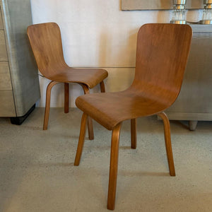 Pair Of Mid Century Modern Bentwood Side Chairs