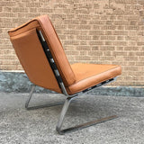 Chrome and Leather Lounge Chair