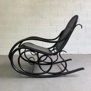 Early 20th Century Thonet Bentwood Rocking Chair