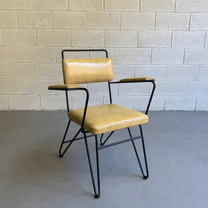 Mid Century Modern Wrought Iron Armchair Attributed To Dan Johnson, Pacific Iron