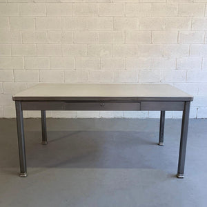 Industrial Midcentury Police Station Desk By General Fire Proofing Company