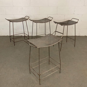 Industrial Brushed Steel Hospital Stools