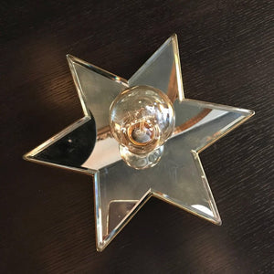 Mirrored Star Wall Sconce
