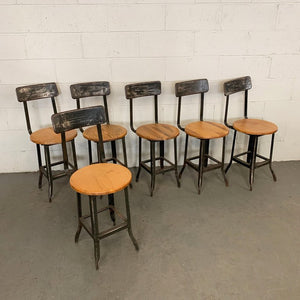 Industrial Oak Shop Chairs