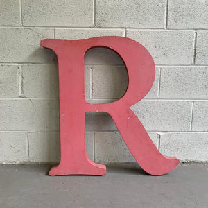 Large Industrial Times Roman Marquee Letter R