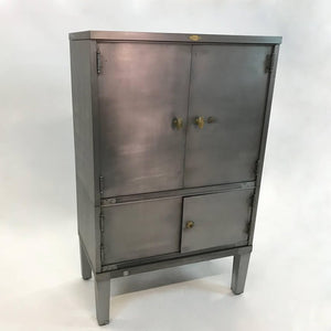 Brushed Steel Document Cabinet