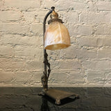 Brass and Stain Glass Lamp