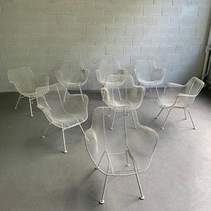 Set Of 8 Russell Woodard Sculptura Armchairs
