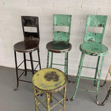 Tall Industrial Painted Steel Shop Stools