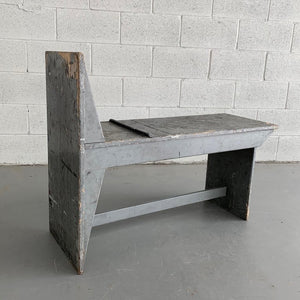Industrial Wooden Artist Bench