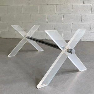 Modern Lucite X Coffee Table Base