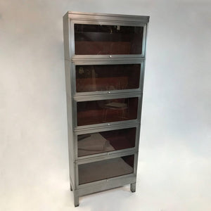 Brushed Steel Barrister Bookcase
