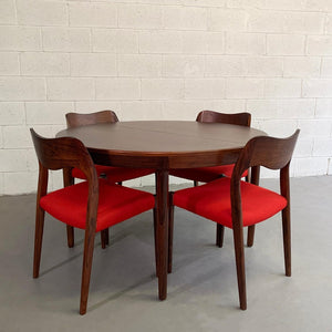 Niels O Moller Round Rosewood Extension Dining Set