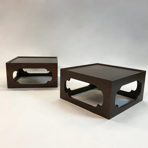 Moroccan Mahogany End Tables
