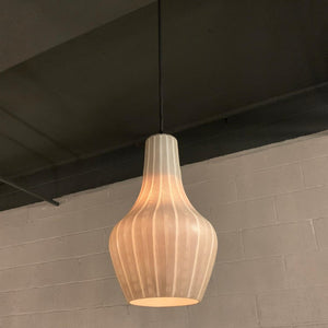 Swedish Mid Century Modern Art Glass Pendant Light