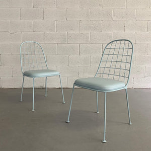 Mid Century Modern Wrought Iron Patio Chairs