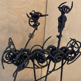 Brutalist Abstract Wrought Iron Sculpture by Franco Garelli