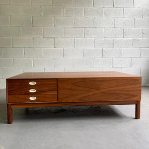 Mid Century Modern Walnut Coffee Table By Milo Baughman For Arch Gordon