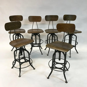 Industrial Toledo Drafting Stools