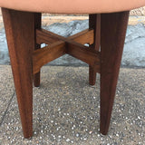 Leather Vanity Stool
