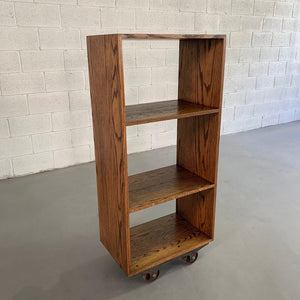 Custom Industrial Rolling Open Bookcase