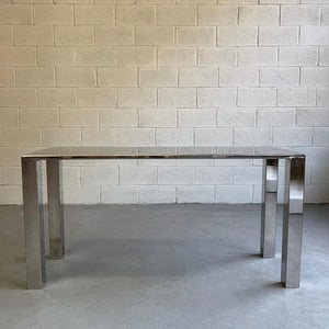 Modern Chrome Parsons Console Table