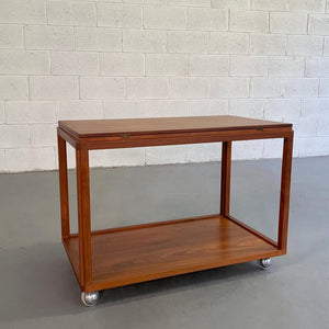 Danish Modern Extension Serving Table Cart