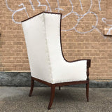 Mahogany Wingback Chair