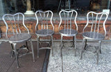 Brushed Steel Toledo Café Chairs