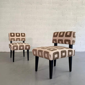 Custom Upholstered Slipper Chairs