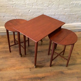 Danish Modern Folding Nesting Tables