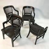Ebonized Bank Armchairs