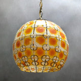 Stain Glass Globe Pendant Light