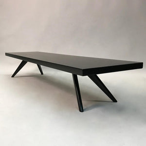 Black Lacquered Mahogany Coffee Table