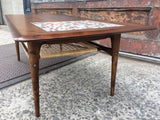 Walnut and Tile Coffee Table