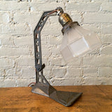 Arts & Crafts Cast Iron Table Lamp