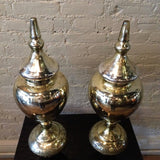 Pair of Mercury Glass Urns